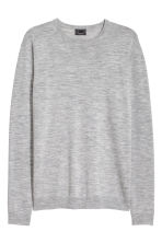 Merino wool jumper - Grey marl -  | H&M 2